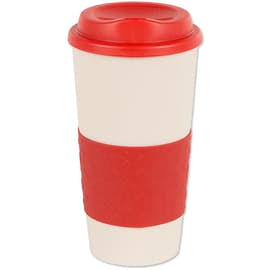 16 oz. Rubber Grip To Go Coffee Cup