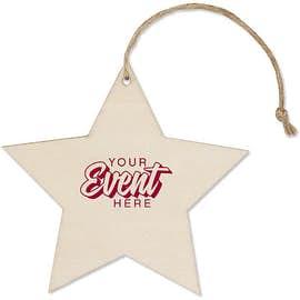 Star Wood Ornament