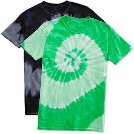 Dyenomite 100% Cotton Two-Tone Spiral Tie-Dye T-shirt