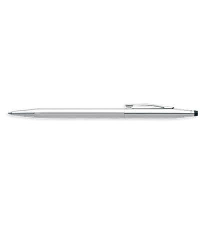 Laser Engraved Cross Classic Century Chrome Ballpoint Pen (black ink) - Silver