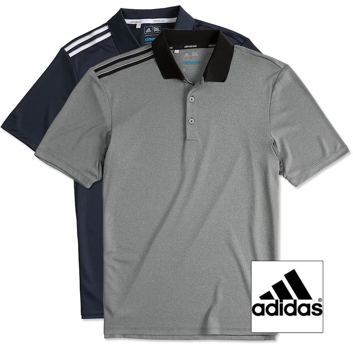 ed3451cf Design Custom Embroidered Adidas Climacool 3-Stripes Shoulder Polo ...