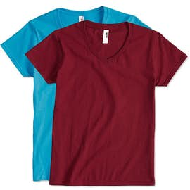 Anvil Women's Jersey V-Neck T-shirt