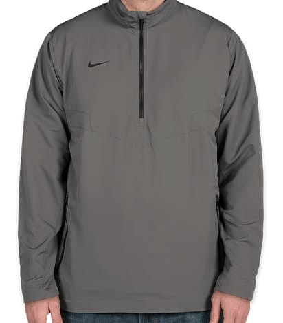 Nike Half Zip Windbreaker - Dark Grey / Black