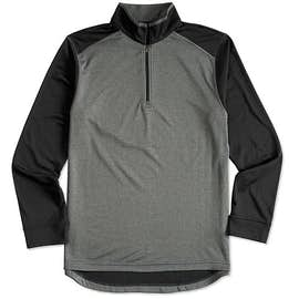 Ultra Club Lightweight Colorblock Quarter Zip Performance Pullover