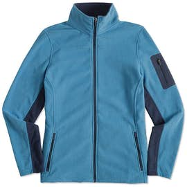 Port Authority Women's Colorblock Full Zip Microfleece Jacket