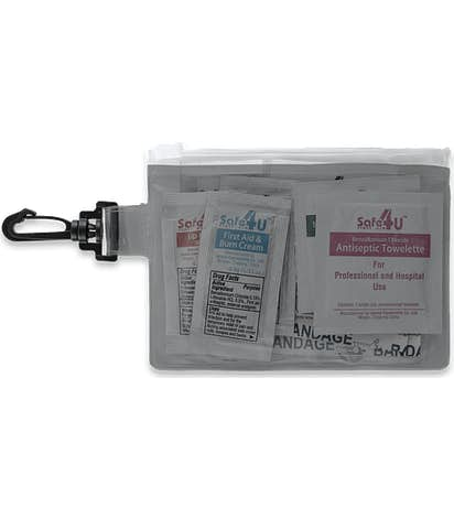 On The Go 12-Piece First Aid Pouch - Translucent Black