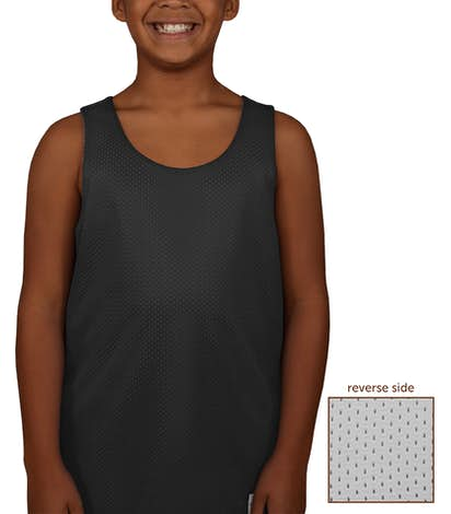 Canada - ATC Youth Mesh Reversible Tank - Black / White