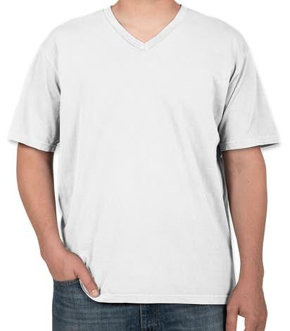 Comfort Colors 100% Cotton V-Neck T-shirt - White