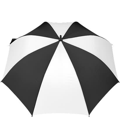 """58"""" Ultra Value Auto Open Golf Umbrella - Black / White"""