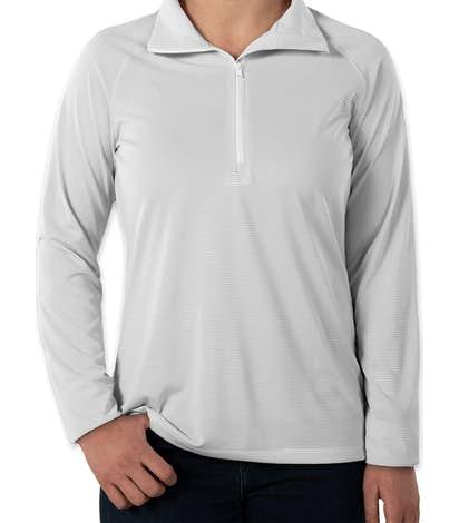 Under Armour Women's Tech Stripe Quarter Zip Pullover - White