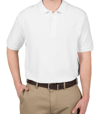 Gildan Double Pique Polo - White