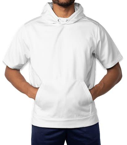 Sport-Tek Sport-Wick Short Sleeve Pullover Hoodie - White