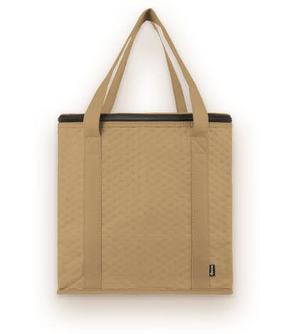 KOOZIE ® Zippered Insulated Grocery Tote - Tan