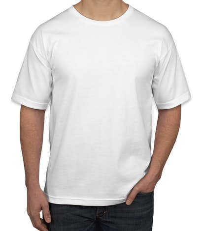 Bayside USA-Made 100% Cotton T-shirt - White