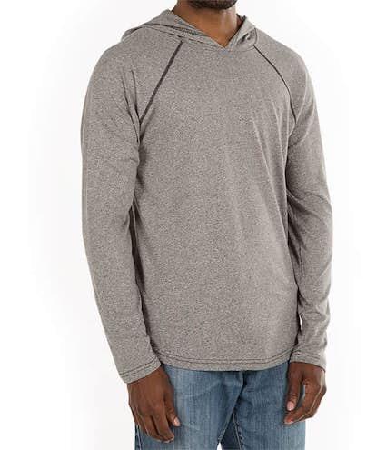 e8069b6e Design Next Level Hooded Melange Long Sleeve T-shirts Online at ...