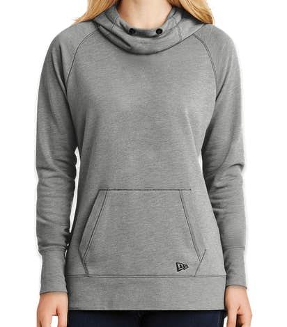 New Era Women's Tri-Blend Pullover Hoodie - Shadow Grey Heather