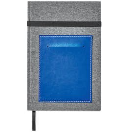 Canvas Hard Cover Notebook with Vinyl Pocket