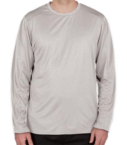 Champion Vapor Heather Long Sleeve Performance Shirt - Oxford Grey