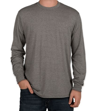 District Made Relaxed Tri-Blend Long Sleeve T-shirt - Grey Frost
