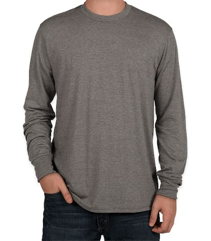 District Tri-Blend Long Sleeve T-shirt - Grey Frost