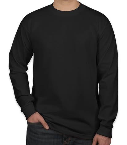 Bayside USA-Made 100% Cotton Long Sleeve T-shirt - Black