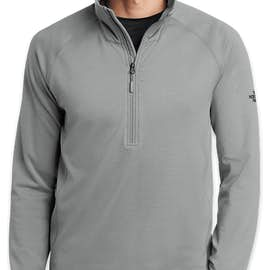 The North Face Mountain Peaks Quarter Zip Fleece Pullover - Color: Mid Grey