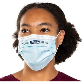 Customized Disposable Triple-ply Face Mask