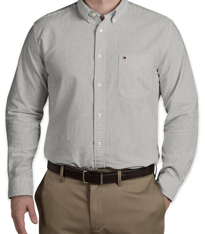 Tommy Hilfiger New England Solid Oxford Shirt - Heather Grey