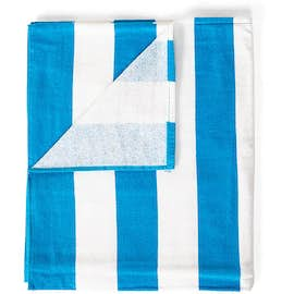 Port Authority Midweight Embroidered Cabana Stripe Beach Towel
