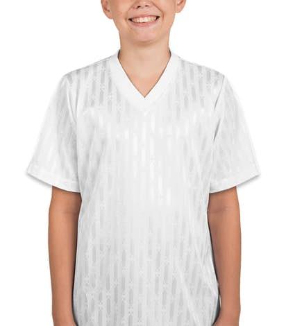 Teamwork Youth Cascade Soccer Jersey - White / White / White