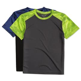 Sport-Tek Youth CamoHex Colorblock Performance Shirt