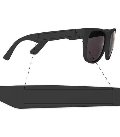 Solid Promotional Sunglasses - Black / Black