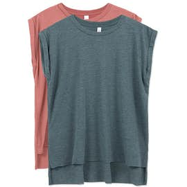 Bella + Canvas Women's Flowy Rolled Cuff T-shirt