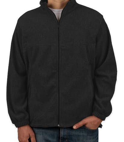 Harriton Full Zip Fleece Jacket - Black