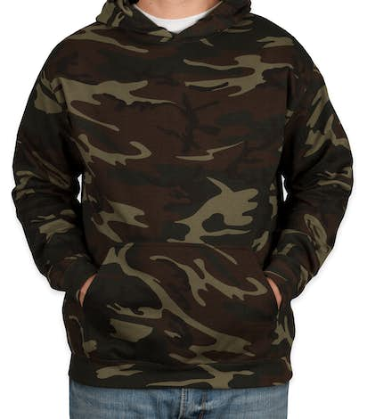 Code 5 Camo Pullover Hoodie - Green Woodland