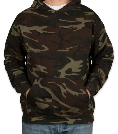 Canada - Code 5 Camo Pullover Hoodie - Green Woodland