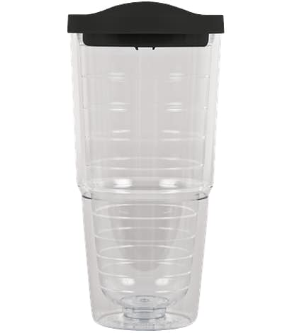 24 oz. Insulated Tumbler - Black / Clear