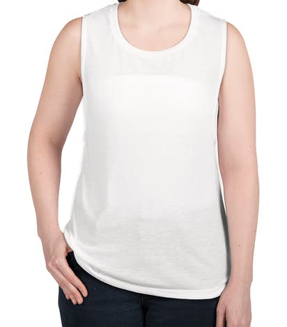 Bella + Canvas Women's Flowy Muscle Tank - White