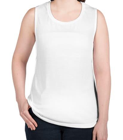 Bella + Canvas Women's Flowy Muscle Tank - White