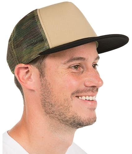 edf50c7e96a Custom District Camo Flat Bill Snapback Hat - Design Trucker Hats ...