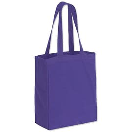 Medium Gusseted Midweight 100% Cotton Canvas Tote