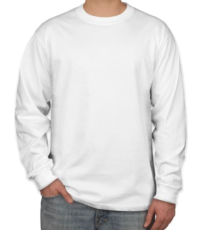 e7bef029eca737 Design Custom Printed Hanes Beefy-T Long-Sleeve T-Shirts Online at ...