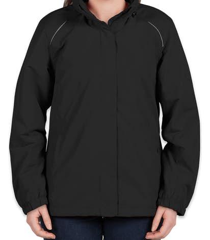 Core 365 Women's Fleece Lined All-Season Jacket - Black