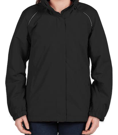 Core 365 Women's Fleece Lined All-Season Jacket - Black