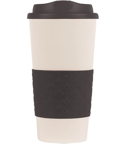 c297b6838bf 16 oz. Rubber Grip To Go Coffee Cup