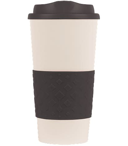 16 oz. Rubber Grip To Go Coffee Cup - Black