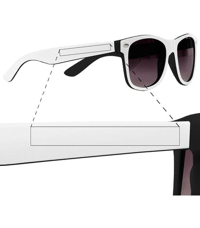 8c8260d4a1 Design Custom Printed Two-Tone Malibu Sunglasses Online at CustomInk