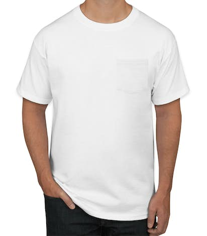 a9321349c29 Custom Hanes Tagless Pocket T-shirt - Design Short Sleeve T-shirts ...