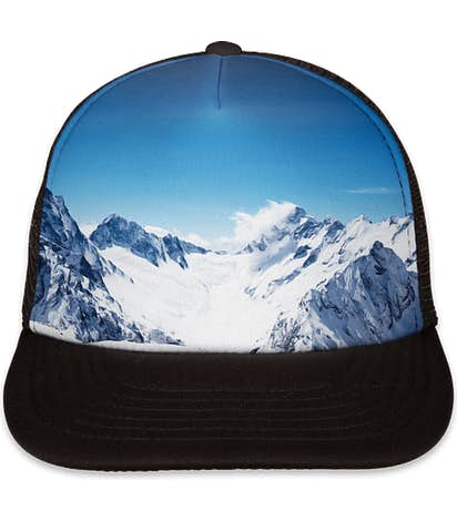 Port Authority Photo Real Snapback Trucker Hat - Snow Caps