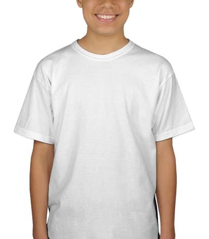 Gildan Youth 100% Cotton T-shirt - White
